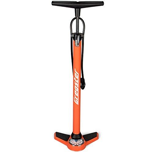 Gregster Unisex Standluftpumpe Fahrrad, Orange, 38mm, GR-6701
