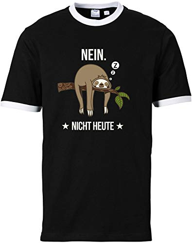 EZYshirt® Faultier | Nein Nicht Heute T-Shirt Herren | Männer Shirt