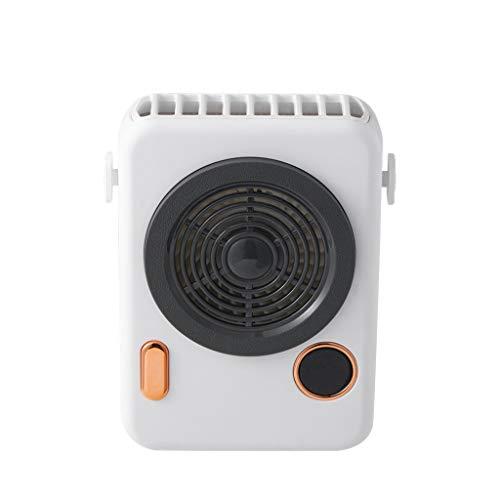 DFSDG Nuevo Mini refrigerador de Aire del Ventilador de Cuello portátil para Sala de Viaje al Aire Libre con Pantalla Inteligente Recargable USB Batería incorporada 2000MA (Color : B)