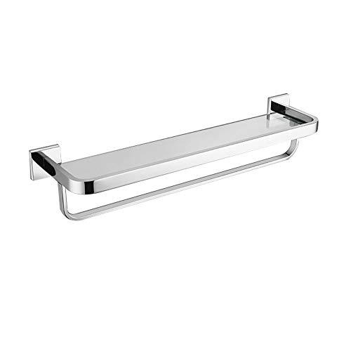 HaiYushop Modern aluminium handdoekenrek, opbergruimte voor de badkamer en handdoekenrek, badkamerrek met haak, handdoekrek aan de muur - #4E