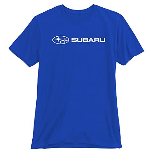 Subaru Genuine Official Basic Blue Tee T Shirt Impreza Sti WRX Ascent Legacy Outback Forester BRZ Crosstrek New OEM Racing (XXL)