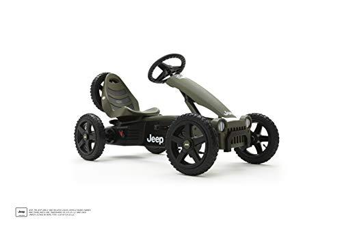 BERG Gokart Rally Jeep® Adventure | Kinderfahrzeug, Tretauto mit verstellbarer Sitz, Mit Feilauf, Kinderspielzeug geeignet für Kinder im Alter von 4-12 Jahren