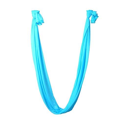 SJHQ Yoga Aéreo Elástica aérea del Vuelo antigravedad Cinturones Hamaca Yoga Columpio for Entrenamiento Yoga Body Building Fitness Equipment 2,8m x 1m Hamaca (Color : Blue)