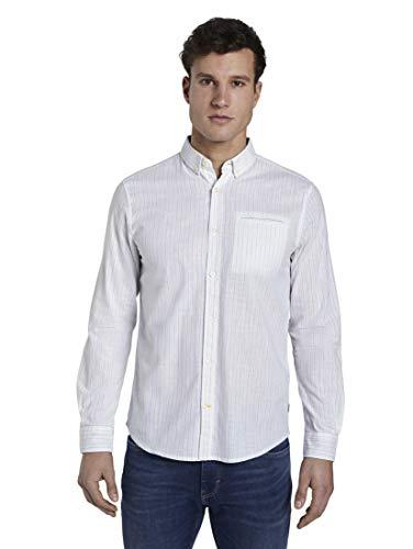 TOM TAILOR Ray Solid Hemd, Herren, Mehrfarbig XL