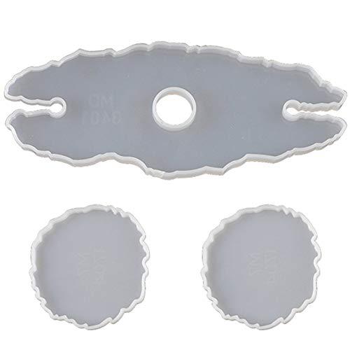 Appearanice Molde de Resina de Estante de Vino Irregular DIY Molde de Resina epoxi de Cristal Silicona