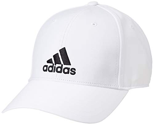 adidas Baseball Lightweight Embroidered Kappe, White/White/Black, OSFM