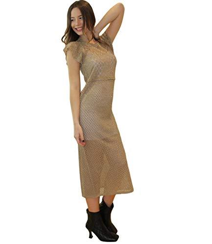 Liu-Jo Liu Jo - Vestido de camiseta para mujer, modelo CA1085MA605 Gold Lux S