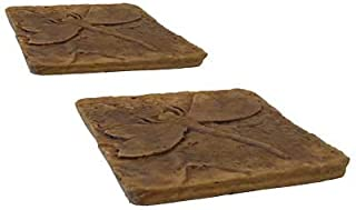 BestNest Athens Dragonfly Stepping Stones, Autumn Wheat, Pack of 2