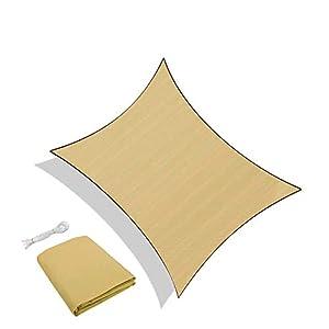 Sunnylaxx Vela de Sombra Rectangular 3 x 5 Metros, toldo Resistente e Impermeable, para Exteriores, jardín, Color Arena