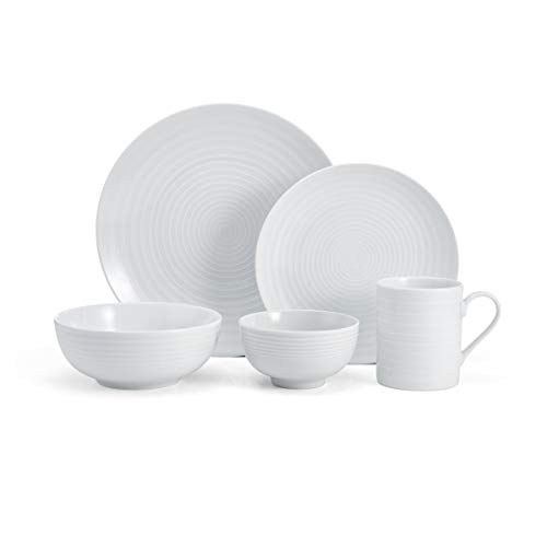 Mikasa Cheers 40-Piece Dinnerware Set, Service for 8, White