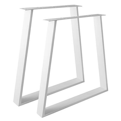 Design Tischgestell Stahl weiß TUG 804 Trapez Tischuntergestell Tischkufe (550-800mm Breite)