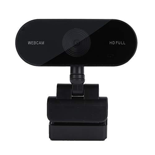 Dilwe USB 2.0 Webcam con Cable para Videoconferencias, Cámara Web con Micrófono Incorporado con Enfoque Automático para Computadoras, Compatible con Windows XP 7 8 10 Vista
