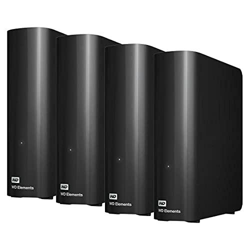 Western Digital - WD Elements 56TB (14TB x 4) Desktop USB 3.0 External Hard Drive - 3.5