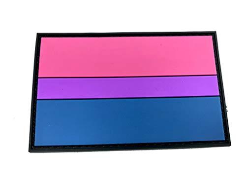 Bi Bisexual LGBTQ Pride Flagge PVC Patch Klett Emblem Abzeichen