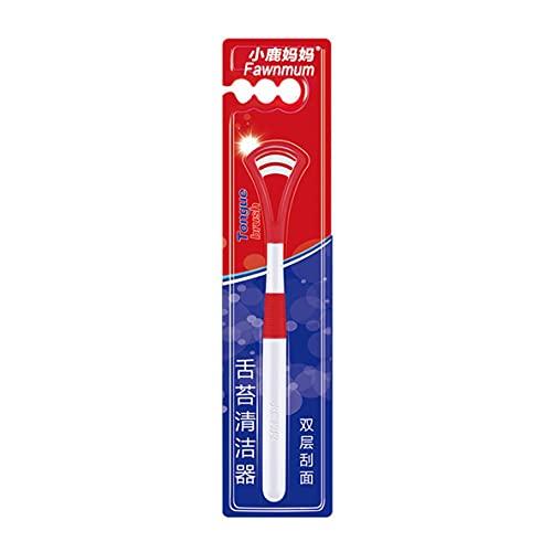 Ygerbkct Diseño ergonómico Diseño de Dos Caras Colorido Limpiador de Lengua de Silicona Opcional Limpiador de Lengua