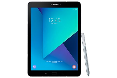 Samsung Galaxy Tab S3 T825 24,58 cm (9,68 Zoll) Touchscreen LTE Tablet PC (Quad Core 4GB RAM 32GB eMMC LTE Android 7,0) silber inkl. S Pen