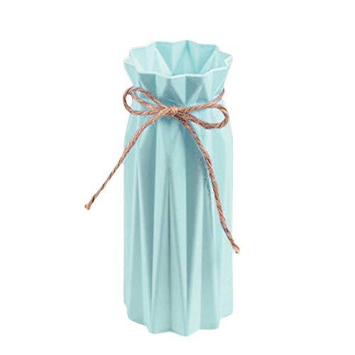 Vase Hochwertiger Minimalismus Blumentopf Geometrische Origami-Vasen Blumentopf Für Häuser Pflanzenarrangement Topf Vase Dekoration Home-Blau