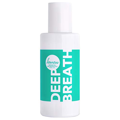 Loovara DEEP BREATH – Premium Erotik Massageöl (100 ml) | anregendes und kühlendes Öl für Vorspiel & Partnermassage | Sex-Spielzeug geeignet | frischer Duft dank Minze Menthol