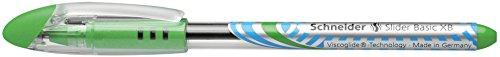 Schneider Slider Basic XB Ballpoint Pen, Light Green, Box of 10 Pens (151211) Photo #9