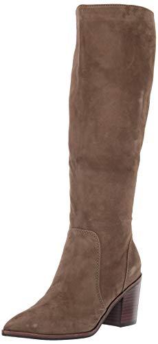 Cole Haan Women's Willa Boot 75Mm Knee High, Berkshr Suede/Dark Brown, 7 B US