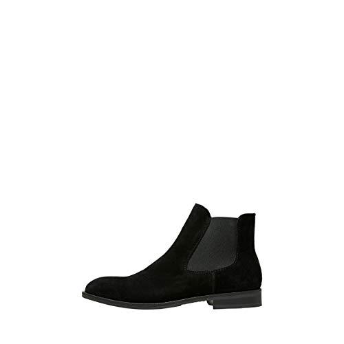 Selected Louis Suede Chelsea Bottines/Boots Hommes Noir - 44 - Boots