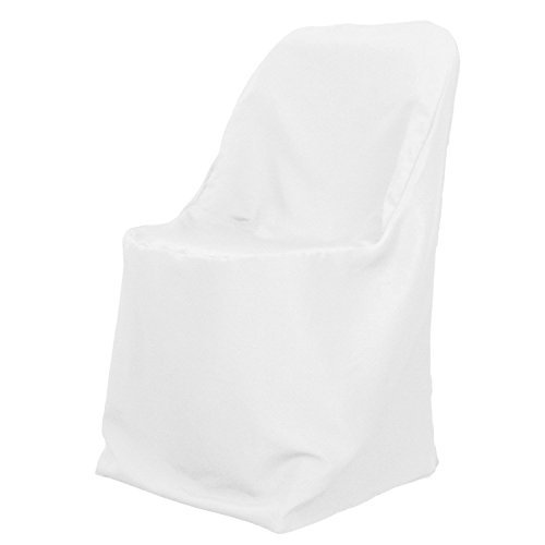 White Wedding Reception Folding Style Chair Covers (set of 10)