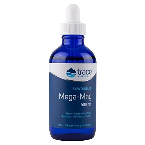 Trace Minerals, Mega-Mag, 400 mg, 118 ml, Magnesio, Probado en Laboratorio, Sin Soja, Sin Gluten, Sin OGM, Vegano