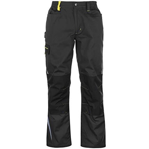 DUNLOP Herren Craft Workwear Hose mit Taschen Arbeitshose Schwarz/Holzkohle Groß