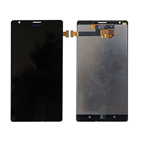 DINGMINGMING Replace Screen Adatta per Il Display LCD Nokia Lumia 1520 con Il Touch Screen Digitizer Assembly con Telaio (Color : Without Frame Black)