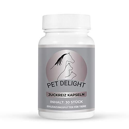 Pet Delight Juckreiz Presslinge   Hochdosiert Leckerlis bei Hautproblemen   Für Haustiere   Nahrungsergänzung zur Hautpflege   Katze   Hund   Anti Milben   Läuse   Flöhe   Floh  