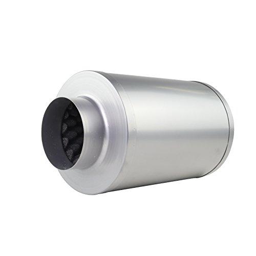 LABT Rohrschalldämpfer mit Akustikschaum Lüftung Zu und Abluft Durchmesser 100 mm Dämmstärke 50 mm Grow