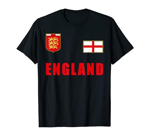 England Fußball Trikot Engländer Englisches Löwen Fan Outfit T-Shirt