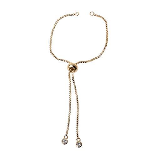 XIGAWAY Cadena extensible ajustable de latón con extremos de bola para hacer joyas, Telas,