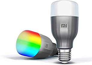 Xiaomi 2pieces Package Global Version Mijia MI Smart LED Bulb Colorful 800 Lumens 10W E27 Lamp Voice Control Work With Google Assistant Alexa (Upgraded Version)