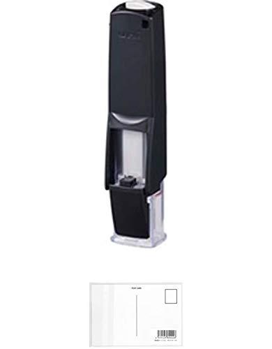 三菱鉛筆 印鑑ホルダー はん蔵 黒 HLD2.24 【まとめ買い 2 個 】 + 画材屋ドットコム ポストカードA