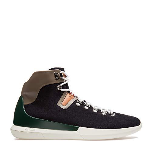 Bally Switzerland - Sneaker da uomo, in pelle scamosciata, colore: Blu...