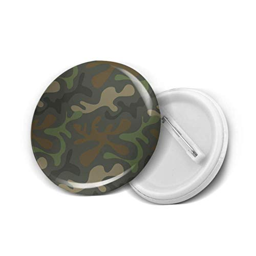 Insignia de botón redondo, patrón de camuflaje del ejército, diseño militar, alfileres de solapa de moda, paquete de 20, para niños, hogar, aula, decoración de fiestas, botón de alfiler, bolsa de rop