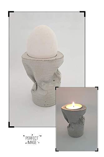 Eierbecher oder Kerzenhalter aus hochwertigem Beton