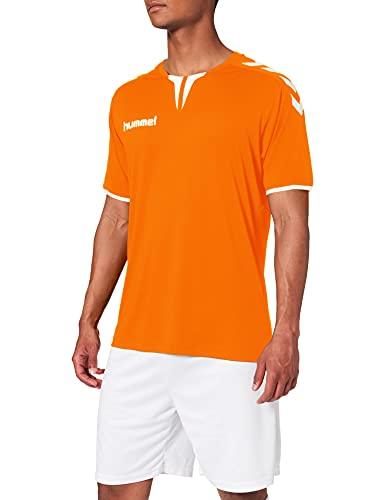 hummel Core - Camiseta Unisex, Unisex Adulto, Color Naranja, tamaño Large