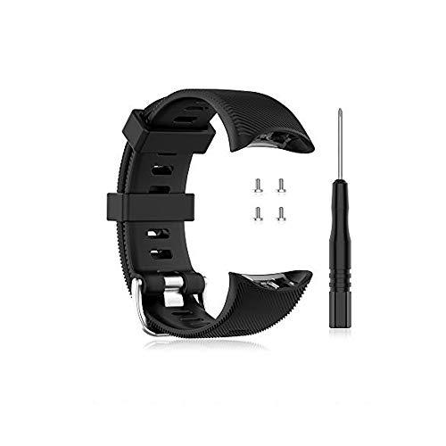 Buwico Armband Kompatibel mit Garmin 2 Swim Watch, Silikon Ersatz Uhrenarmbänder Handgelenk Armbänder Sport Uhrband Fitness Uhr Wechselarmbänder für Garmin 2 Swim Smartwatch (Schwarz)