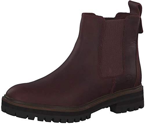 Timberland CA1S91 London Square - Damen Schuhe Stiefeletten - Chelsea-Dark-Port, Größe:37.5 EU