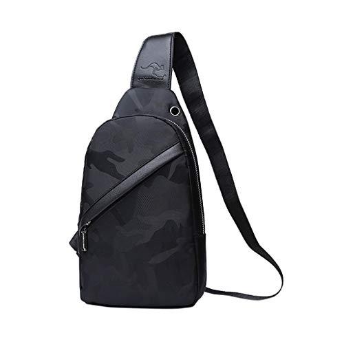 Bfmyxgs Herren Umhängetasche Fashionoutdoor Sport Brust Packung Canvas USB Lade Nützliche Durable Handtasche