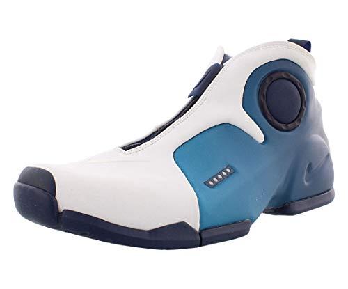 Nike Air Flightposite 2 Herren Hi Top Basketball Trainers CD7399 Sneakers Schuhe (UK 8 US 9 EU 42.5, White Midnight Blue 100)