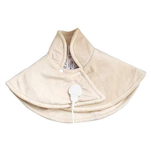 LMCLJJ eléctrico del cojín de calefacción del abrigo de hombro y alivio del dolor de espalda, ajuste de calor ajustable 1,5 horas de apagado automático, de gran tamaño Fast Calefacción, lavable a máqu