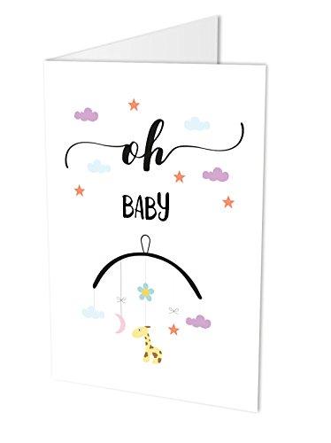 Carte de félicitations pour la naissance DIN A4avec enveloppe Carte, carte à rabat, naissance, bébé, naissance Félicitations, naissance