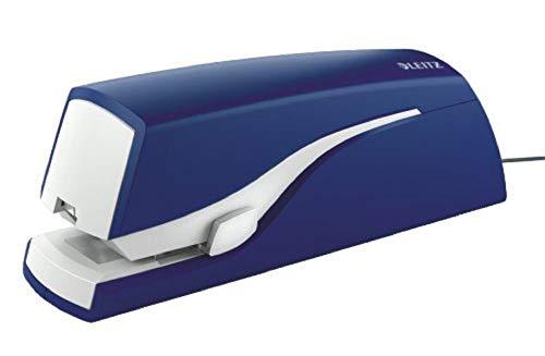 Leitz 55330035 Elektrisches Heftgerät, Heftleistung 20 Blatt, blau