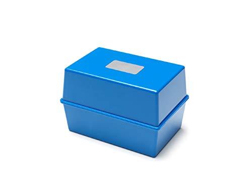 Deflecto - Schedario da tavolo 15,2x 10,2cm 6x4 Blue Blue