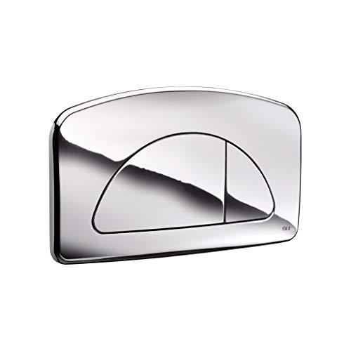 Placca Dual Cassetta Incasso Diamante Cromata 627004 Oli