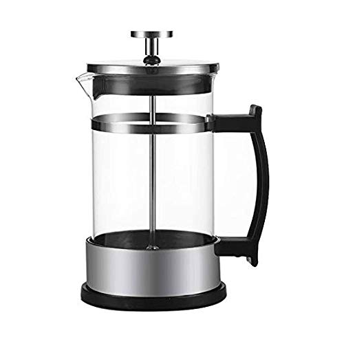 Best Review Of LKNJLL French Press Coffee Maker With Borosilicate Glass - Stainless Steel Lid Double...