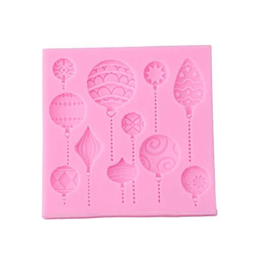 MoreLucky siliconen zeep schimmel kerstballen zeep DIY vorm taart vorm Pan Fondant bakvorm chocolade zoete vorm (Random kleur)
